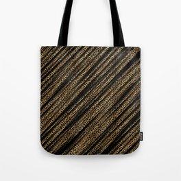 Black Leopard/Cheetah Print Tote Bag