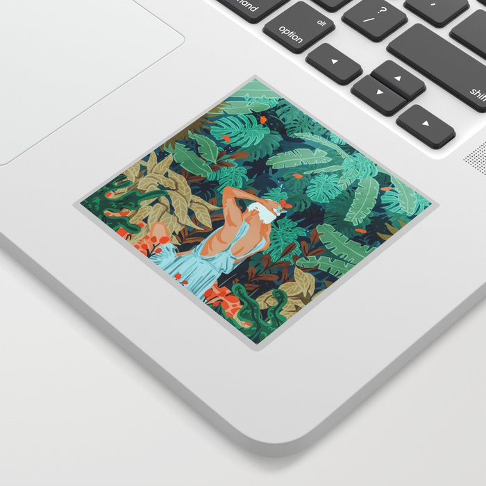 Backyard #illustration #painting Sticker