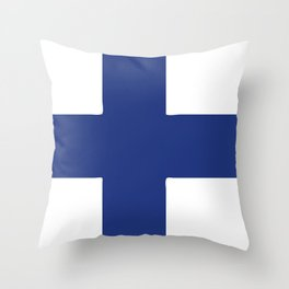 Finland flag emblem Throw Pillow