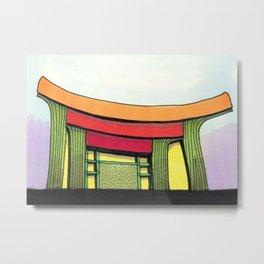 Cactus Pagoda Architectural Design 53 Metal Print