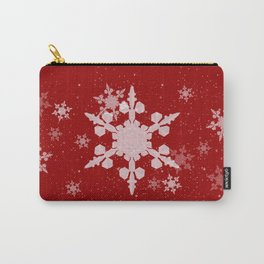 Snow Falls - Red Carry-All Pouch