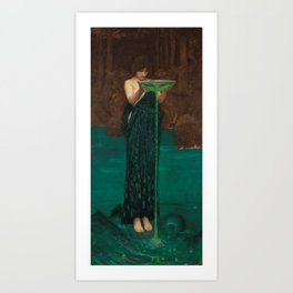 John William Waterhouse - Circe Invidiosa Art Print