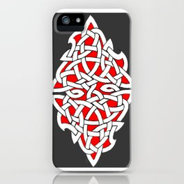 Red and Gray Diamond Knot iPhone Case