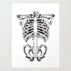 Skeleton #1 Art Print