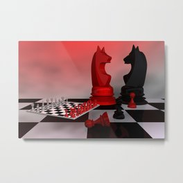 who likes chess? Metal Print
