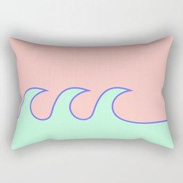 Sea Foam-o (Millennial Pink Edition) Rectangular Pillow
