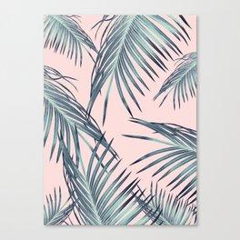 Blush Palm Leaves Dream #1 #tropical #decor #art #society6 Canvas Print