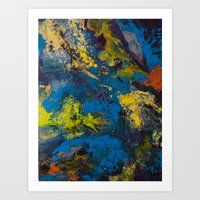 cosmic Art Prints featuring Cosmic by yellowbunnies