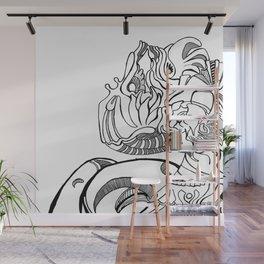 Dragon Abstraction Wall Mural