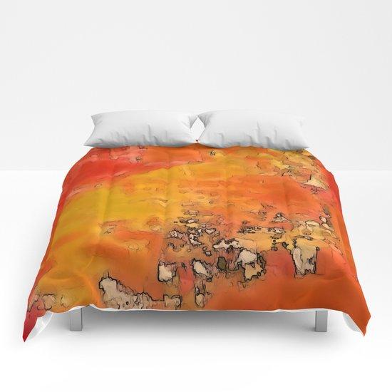 Orange Burst Comforters