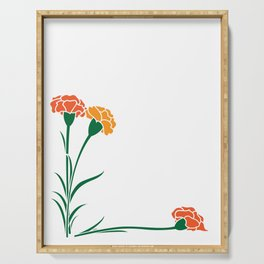 Carnations Serving Tray