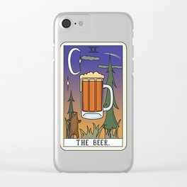 Beer Reading Clear iPhone Case