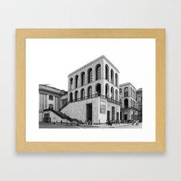 Milan   Arengario in Duomo square   Piero Portaluppi architect Framed Art Print