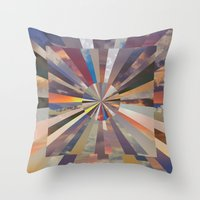 vertigo Throw Pillows featuring Vertigo by Whitney Bolin