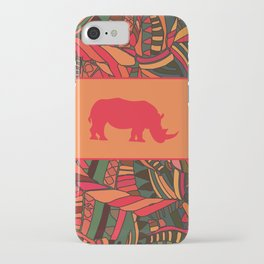 African Tribal Pattern No. 16 iPhone Case