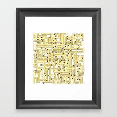 Fruit Maze Framed Art Print