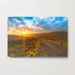Sunset Wicklow Mountains Ireland Metal Print
