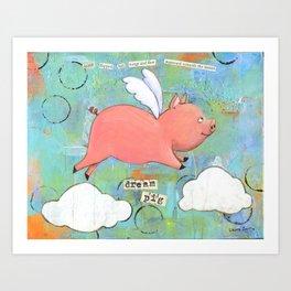 Alice the Dream Pig Art Print