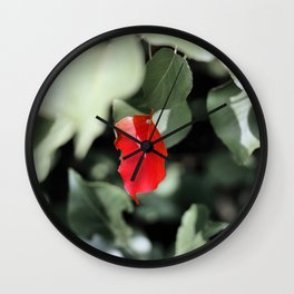 Red Left in the Blues Wall Clock