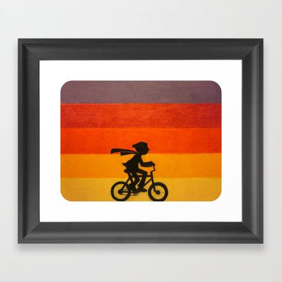 """""""Get Home Before Dark"""" Framed Art Print"""