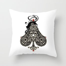 Ace of Spades - No.17 Playing Cards Throw Pillow