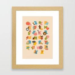 ABCs Ice Cream Framed Art Print