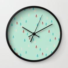 Raindrop Repeat Wall Clock