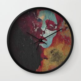 """NC"" Art by weart2 Wall Clock"