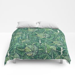 dreaming cabbages Comforters