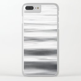 Black and White Water Ripple Photography, Grey Ocean Wave Art, Gray Sea Waves, Neutral Modern Photo Clear iPhone Case
