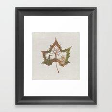 A Fall Story Framed Art Print