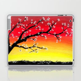 Drawing Sunset and a Blossom Tree Laptop & iPad Skin