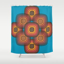 Fire Pit Pebbles Shower Curtain