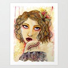 Cecilia and the Centipede Art Print
