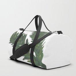 Watercolor Pine Sprig Duffle Bag