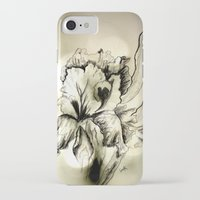 iris iPhone & iPod Cases featuring Iris by Suzanne Kurilla