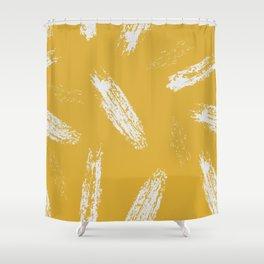 Yellow splash Shower Curtain