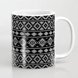 Aztec Essence Ptn III Grey on Black Coffee Mug