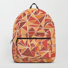 Orange Triangles Backpack