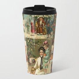 Vintage Victorian Christmas Collage Travel Mug