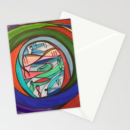 Facing Time Stationery Cards