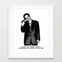tarantino Framed Art Prints featuring TARANTINO by Rocky Rock