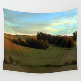 Last Moments of Sunset Glow, Sonoma County Hills Wall Tapestry