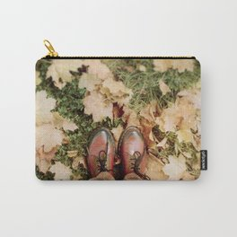 Shoes And Leaves Carry-All Pouch