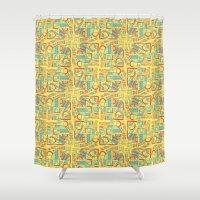 safari Shower Curtains featuring Safari by Kancata