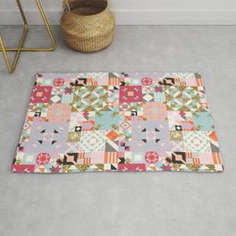 Moroccan Quilt Pattern Rug