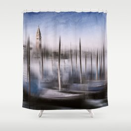Digital-Art VENICE Grand Canal and St Mark's Campanile Shower Curtain