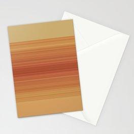 Orange Sunset Stripe Design Stationery Cards