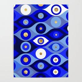 Greek Mati Mataki - Matiasma Evil Eye blues Poster