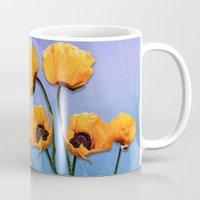 oriental Mugs featuring Oriental Poppies  by LudaNayvelt